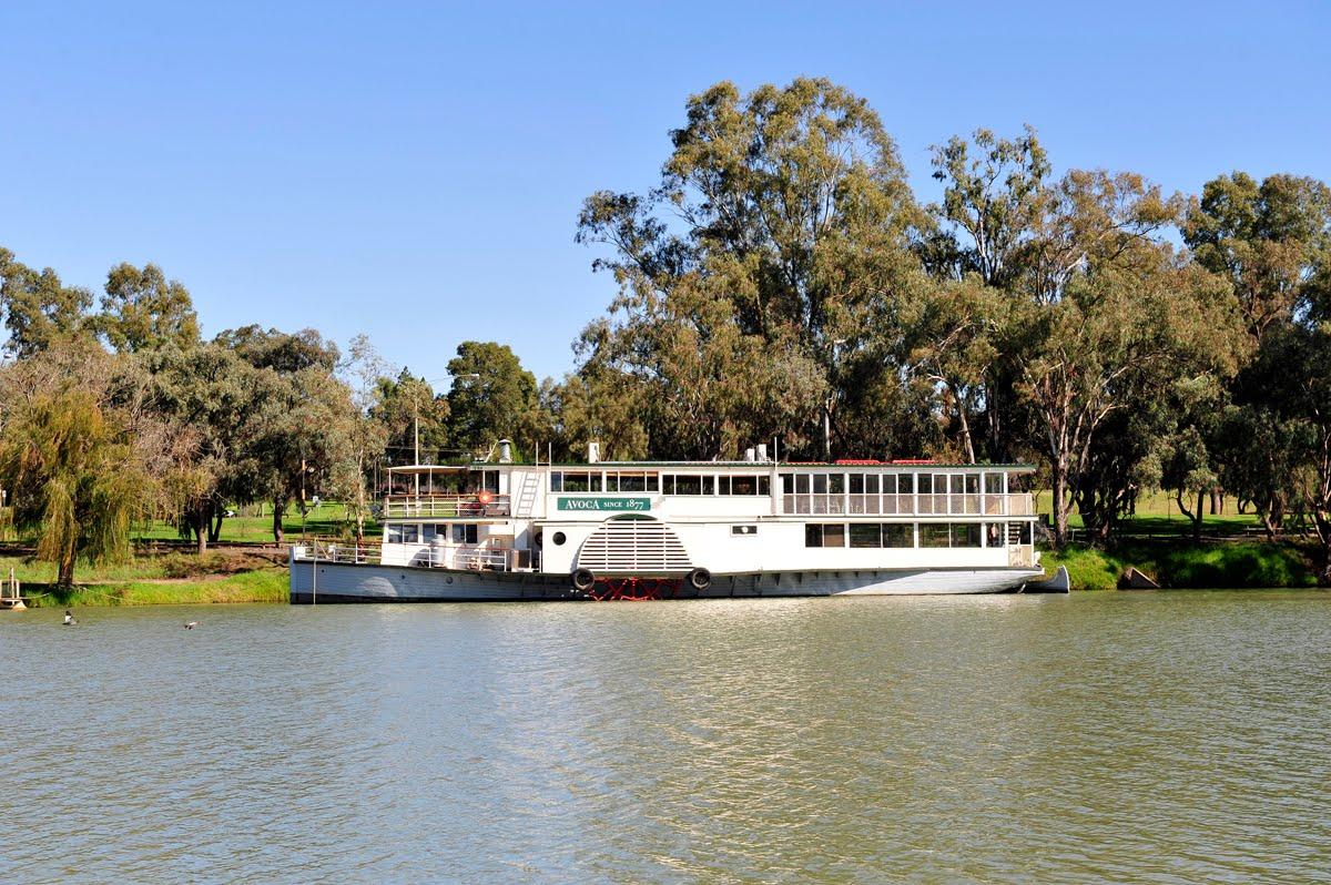 Mildura Australia  city photos : The paddle Steamer Avoca on the Murray River at Mildura