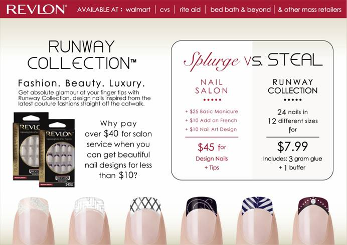 Madhouse Family Reviews: Revlon Runway Collection Mystic Glue-on Nails