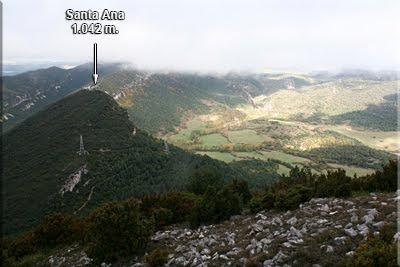 Santa Ana visto durante el descenso de Valdelamediana
