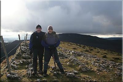 Arralde mendiaren gailurra 945 m. - 2008ko abenduaren 28an