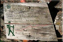 Cartel del Cañón de Forcadura - Laguna de los Peces