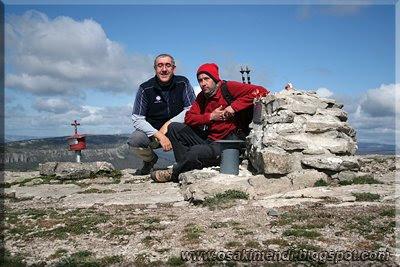Oteros mendiaren gailurra 1.038 m.  -  2009ko apirilaren 28an