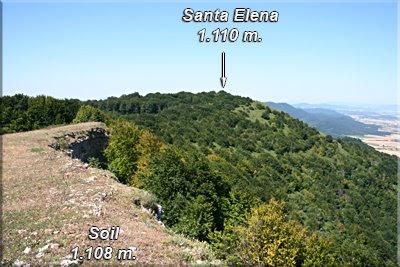 Santa Elena visto desde la cima de Soil