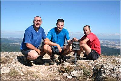 Recilla mendiaren gailurra 1.381 m.  -  2009ko uztailaren 25ean