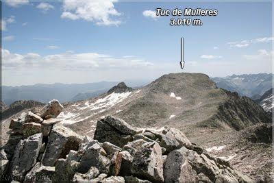 Tuc de Mulleres visto desde el Pico Salenques