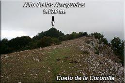 Cima de Arrayelas oculta tras los árboles