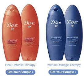 Amostra Gratis Shampoo da Dove Hair Terapy System