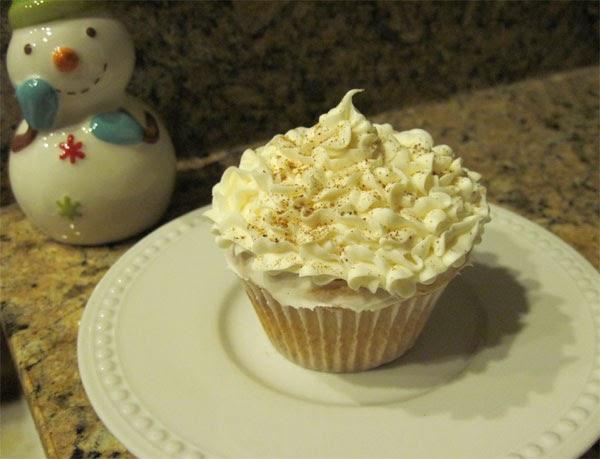 how to make egg nog cupcakes