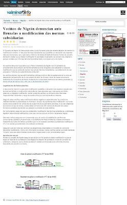 Valminor.info, Veciños de Nigrán denuncian