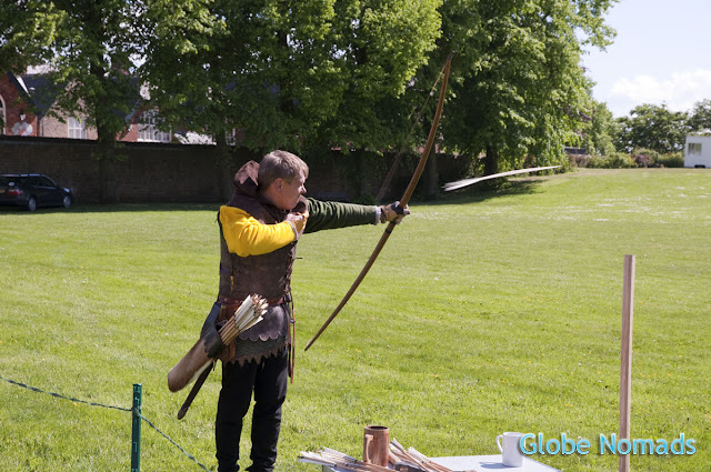 Travel, Attractions, United Kingdom, Bolsover Castle, archery demostration