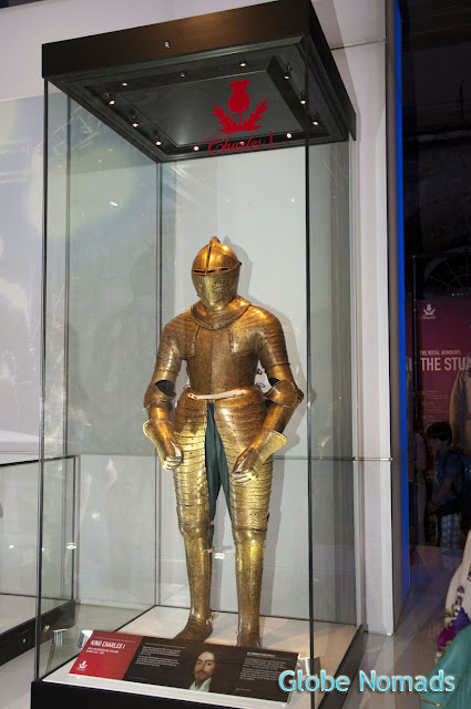 gilt armour, surface covered with gold leaf belonging to King Charles I