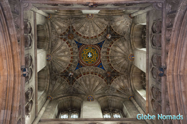 ceiling of bell harry tower in canterbury cathedral