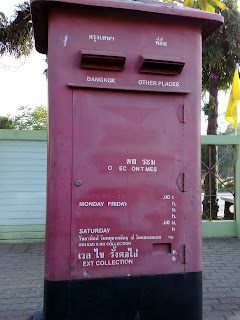 Posting a letter in Phuket