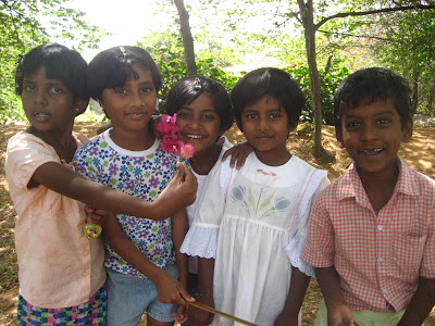 second graders at the Shanti Bhavan school in India