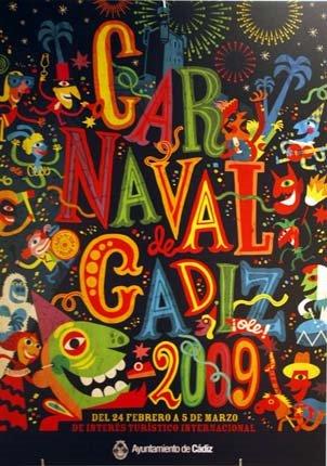 CARTEL DEL CARNAVAL DE CÁDIZ 2009