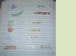 Dibujan, cortan letras y forman cada nombre