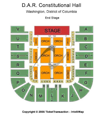 Dar constitution hall seating chart check the seating chart view