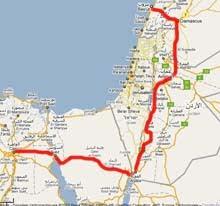 La carte du parcours