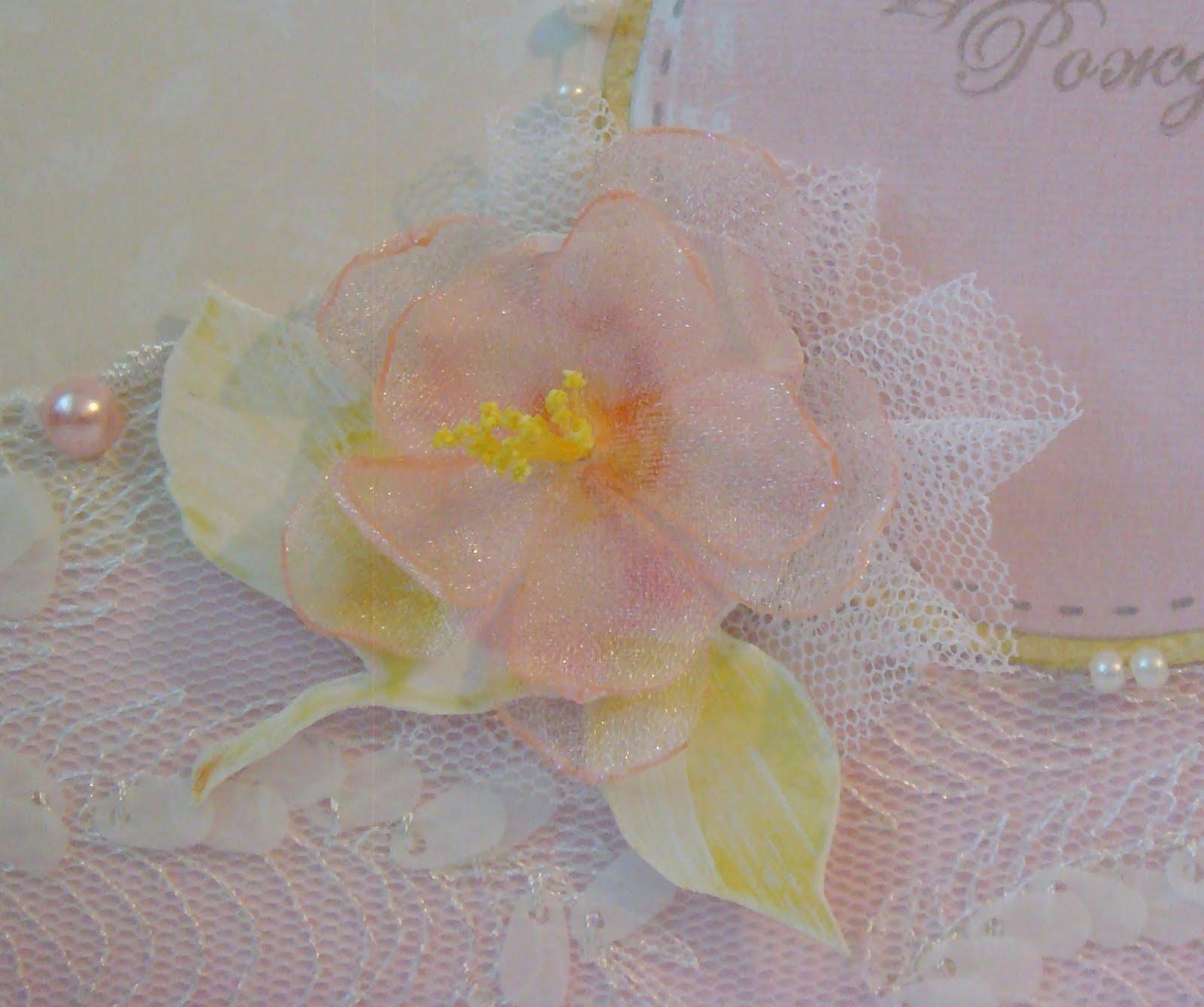 Цветы из органзы своими руками фото поэтапно