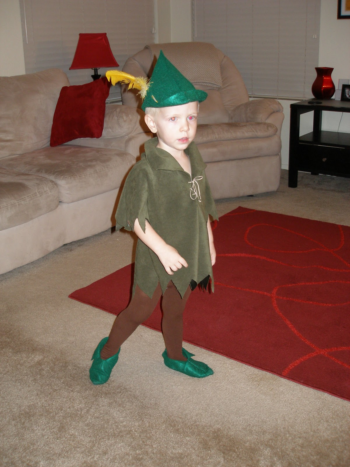 for the costume, and forgot that Peter Pan wears green not brown