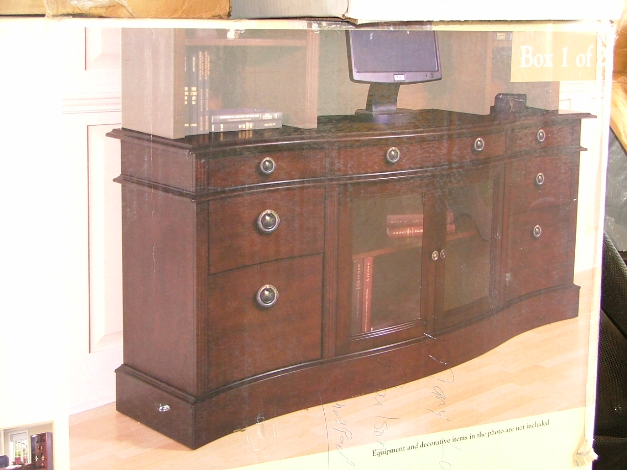 Exceptional Lexington RTA Furniture. I Have A New In Box Lexington Regency Credenza  Desk. Solid Hardwood And Mahogany Finish. Antique Silver Hardware.