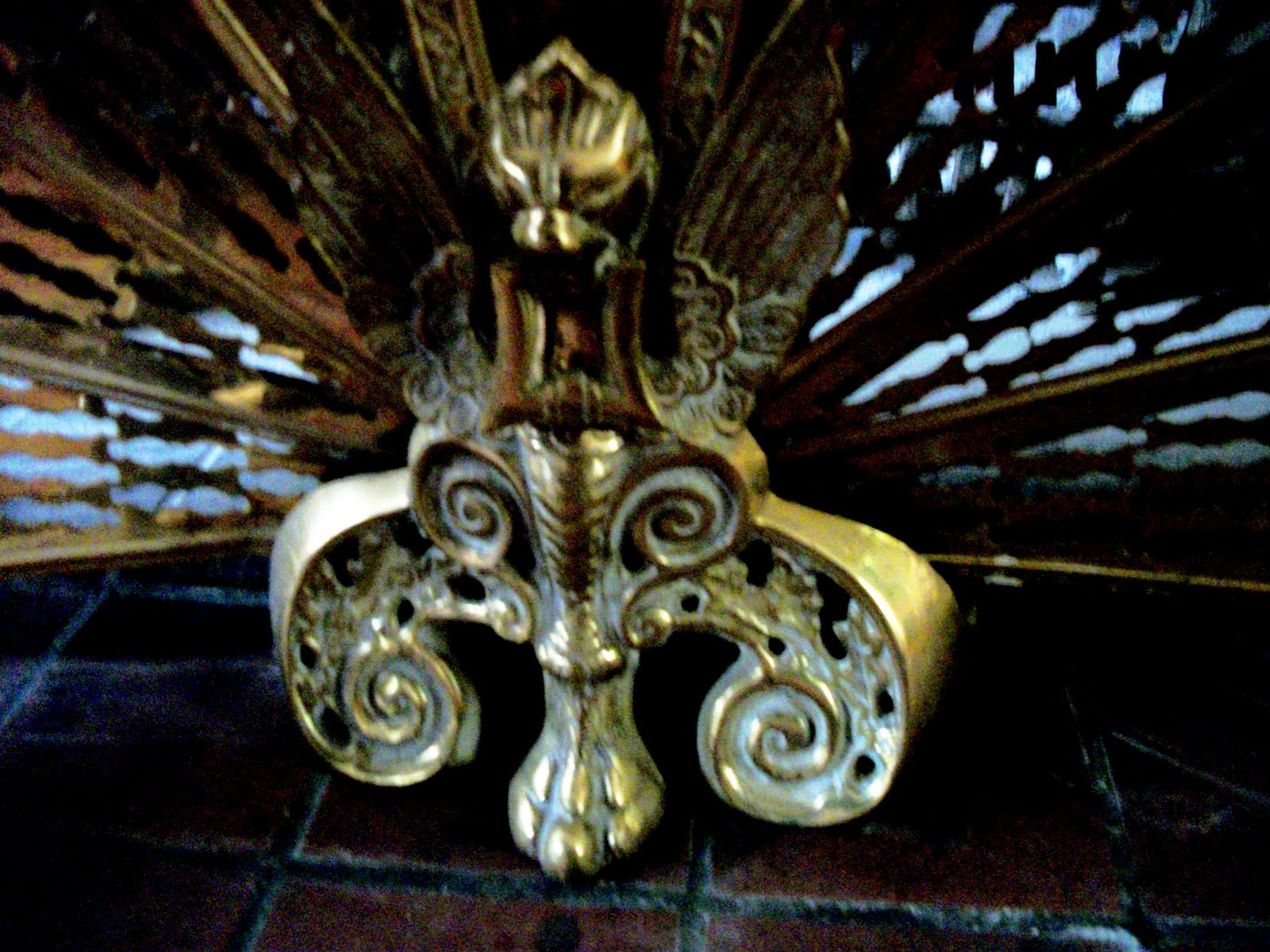writing straight from the heart antique brass peacock fireplace