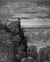 Gustav Dore - An Drochbhuaachaill ag breathnú ar Fhláithis