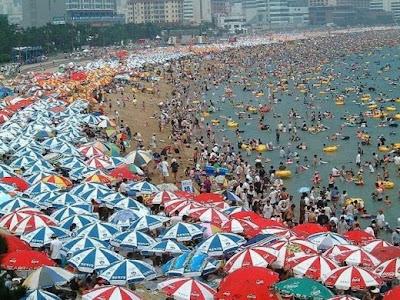 Creative umbrella on beach unlimited