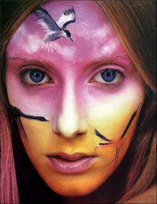 عکس: نقشهای زیبا بر چهره