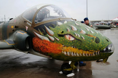 عکس: نقاشیهای جالب بر روی هواپیماها