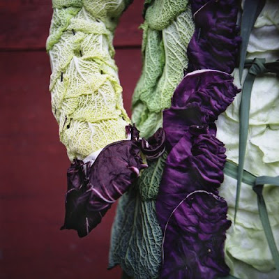 Clothes made of leaves and flowers