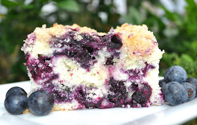Blue Berry Buckle Cake By Alton Brown