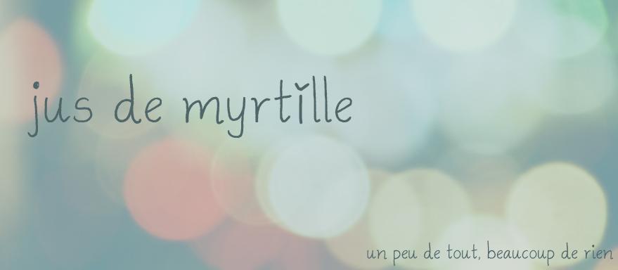 Jus de myrtille