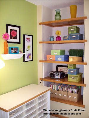 Stamp and smile my craft room a slice of heaven for Craft room paint colors