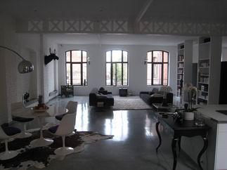 constructeur maison mezzanine charpente apparente poutrelles metalliques de lofts. Black Bedroom Furniture Sets. Home Design Ideas