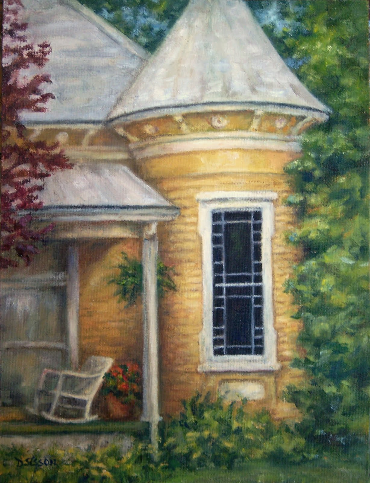 daily painting projects tucked away oil painting