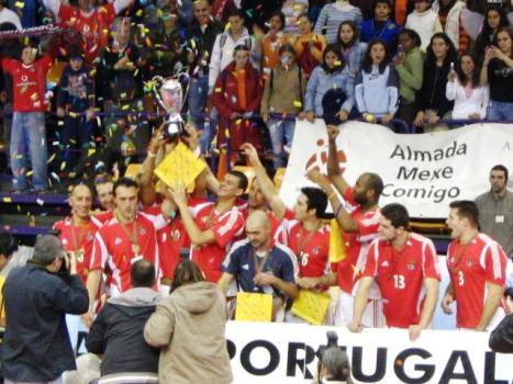 No Voleibol a Taça de Portugal foi o momento alto do Benfica em 2005/06