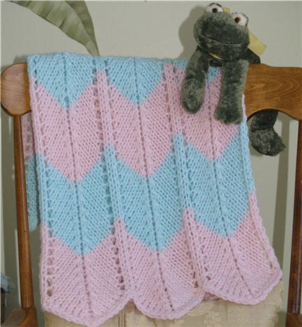 Knitting Nonstop: Chevron Blanket (knit version)