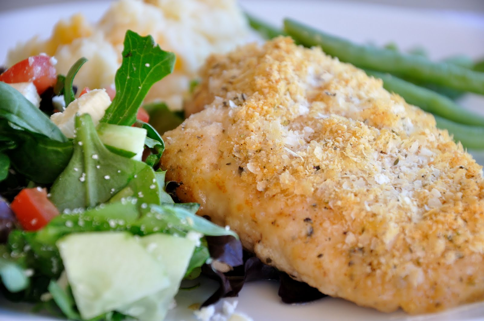 Gluten Free Goodness: Crispy Herb Baked Chicken