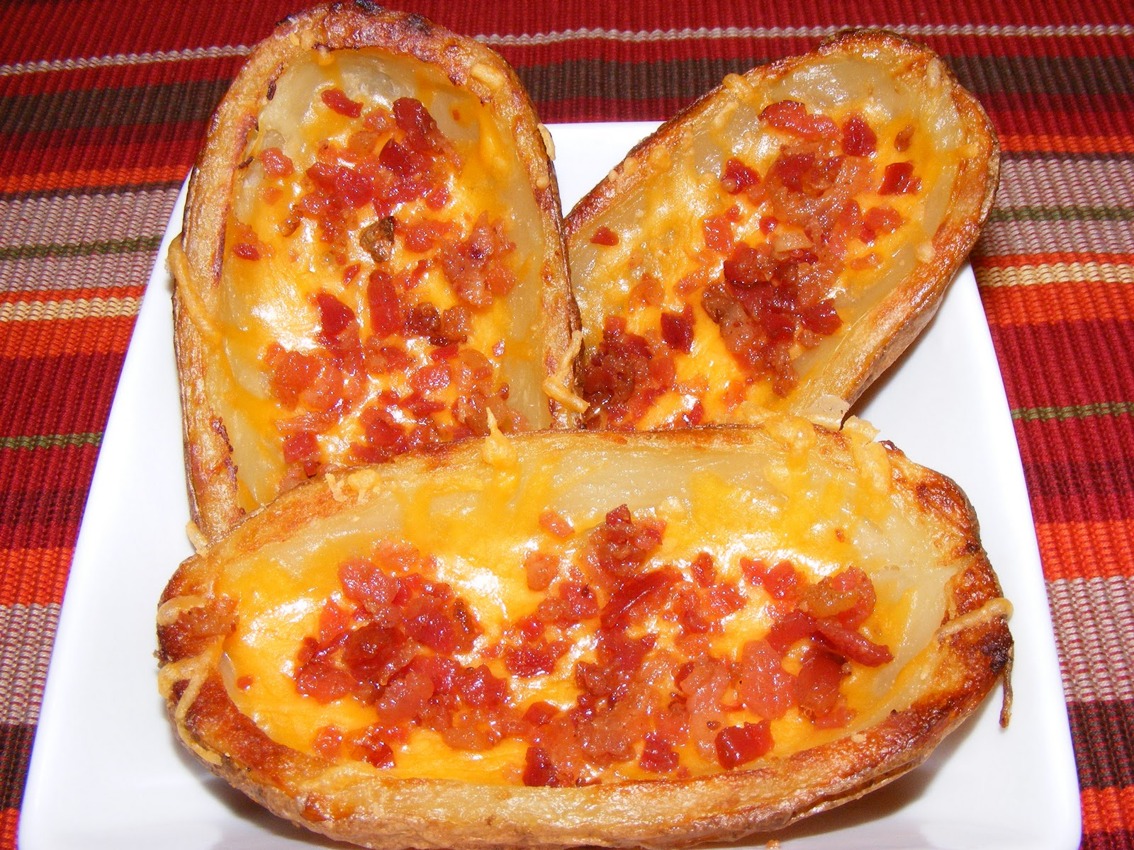 baked potato skins mac and cheese sweet potato skins with bacon ...