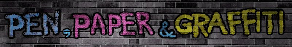 pen, paper and graffiti