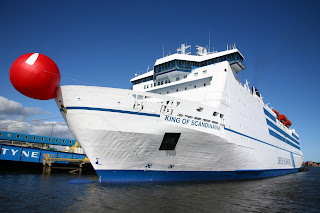 King of Scandinavia cruise ferry with giant red nose