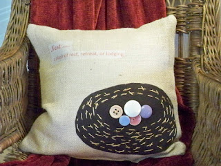 handmade nest pillow