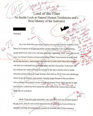Lord of the flies survival essay