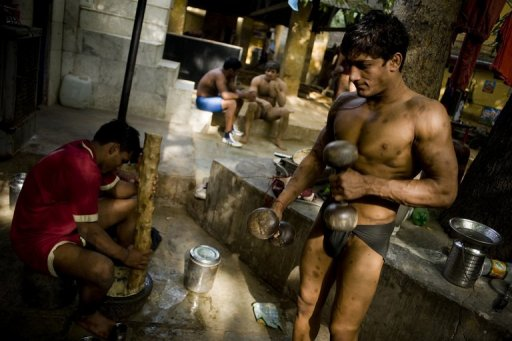 Boys in Loin Cloth http://kushtiwrestling.blogspot.com/2010/04/india-hopes-mud-pit-wrestling-can-lead.html