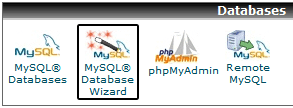 MySQL Wizard in CPanel