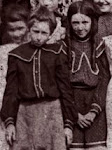 Bess & Mary, as they appear in the schoolhouse photo.