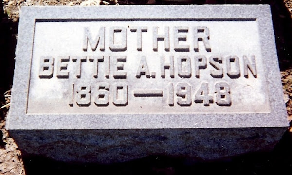 """Elizabeth """"Bettie"""" Ann Lander Hopson's stone"""