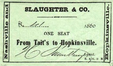 Stagecoach Ticket, 1860
