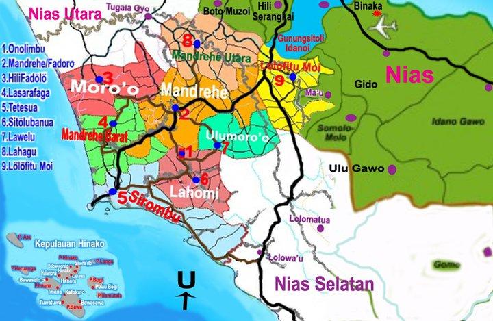 Peta Kabupaten Nias Barat